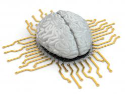 Human brain as computer chip. ©Maksym Yemelyanov